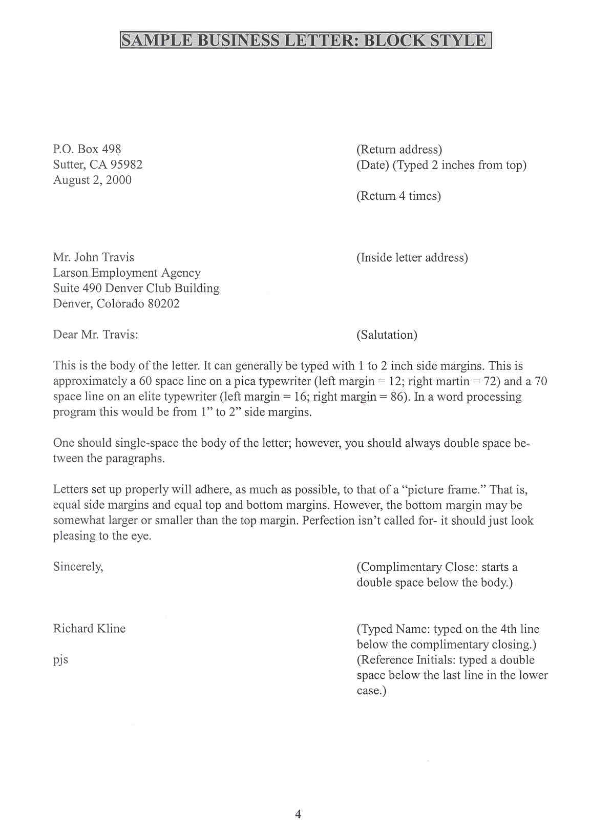 writing a business letter business letter format dear sample business letter 11794