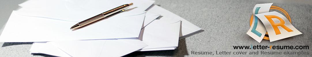 Letter & Resume